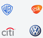 Warner Brothers, gsk, Citi Group, Volkswagen
